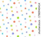 Crayon dots seamless pattern....