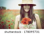 Young Beautiful Happy Woman In...