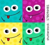 funny smiles | Shutterstock .eps vector #178096481