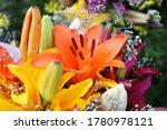 A Close Up On A Flower Boquet...