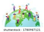 social media and worldwide... | Shutterstock .eps vector #1780987121