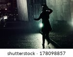 young woman running away from... | Shutterstock . vector #178098857