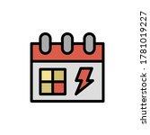 calendar icon. simple color...