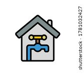 home  water icon. simple color...