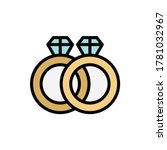 rings  marriage icon. simple... | Shutterstock .eps vector #1781032967