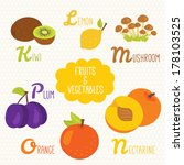 alphabet for kids with fruits... | Shutterstock .eps vector #178103525