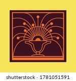 retro window grill pattern... | Shutterstock .eps vector #1781051591