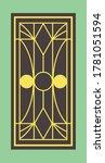retro window grill pattern... | Shutterstock .eps vector #1781051594