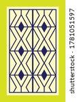 retro window grill pattern... | Shutterstock .eps vector #1781051597