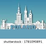 poland landmark global travel... | Shutterstock .eps vector #1781090891