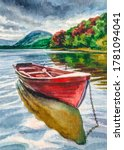 Wooden Boat On The Lake....