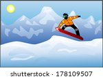 snowboarding | Shutterstock .eps vector #178109507