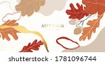 autumn and gold background... | Shutterstock .eps vector #1781096744