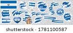 vector set of the national flag ... | Shutterstock .eps vector #1781100587