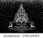 merry christmas and happy new... | Shutterstock .eps vector #1781109491