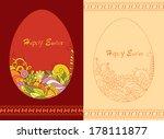 easter egg card   Shutterstock .eps vector #178111877