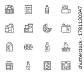 grocery line icons set  outline ...   Shutterstock .eps vector #1781130347