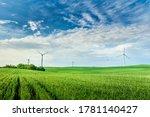 Wind Turbine In The Field. Wind ...