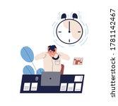 concept of missing deadline ... | Shutterstock .eps vector #1781142467