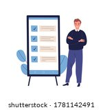 concept of successful task... | Shutterstock .eps vector #1781142491