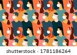 pattern of coronavirus pandemia....   Shutterstock .eps vector #1781186264