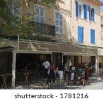 Pavement Cafe In Saint Tropez ...