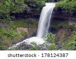 minnehaha falls in minneapolis... | Shutterstock . vector #178124387