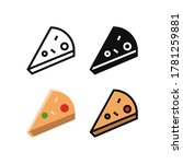 simple slice of pizza icon...