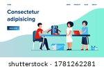 children presenting cyborg at...   Shutterstock .eps vector #1781262281