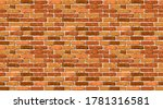 realistic vector brick wall... | Shutterstock .eps vector #1781316581