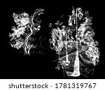 hand drawn tree isolated.... | Shutterstock .eps vector #1781319767