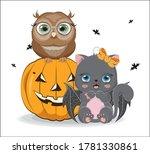 Black Halloween Baby Cat With...
