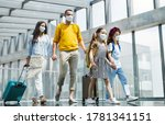 family with two children going... | Shutterstock . vector #1781341151
