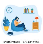young girls using phone ...   Shutterstock .eps vector #1781345951