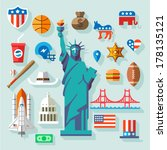 Usa  Symbols    Many Vector...