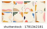 trendy colorful set of abstract ... | Shutterstock .eps vector #1781362181