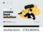 presentation slide template or... | Shutterstock .eps vector #1781383031