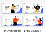set of presentation slide... | Shutterstock .eps vector #1781383094