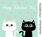 happy valentines day. black... | Shutterstock . vector #1781384534