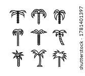 Palm Date Tree Icon Or Logo...