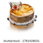 Mocha Coffee Cake On A White...