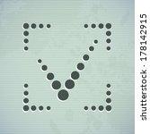 true symbol confirm concept...