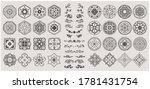 set of hand drawn oriental... | Shutterstock .eps vector #1781431754
