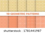 collection of seamless...   Shutterstock .eps vector #1781441987