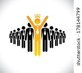 corporate employee beating... | Shutterstock .eps vector #178144799