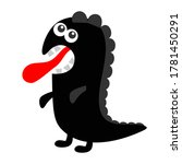 monster dino black silhouette.... | Shutterstock .eps vector #1781450291
