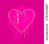 golden brush strokes in golden... | Shutterstock .eps vector #1781454887