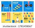 fitness gym social media post... | Shutterstock .eps vector #1781458067