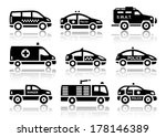 Set Of Service Automobiles...