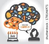 online shopping | Shutterstock .eps vector #178146971